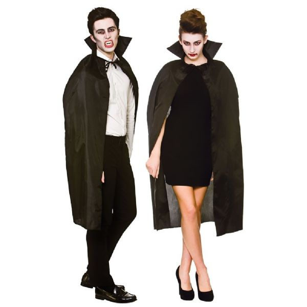 Adult Cape With Collar - Black